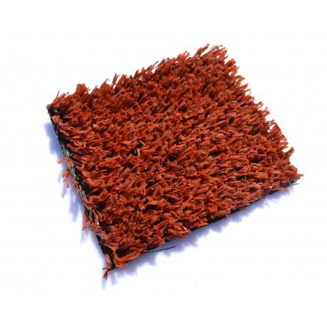 Искусственная трава красная 20мм.