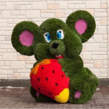 Топиарий Мышь с клубникой
