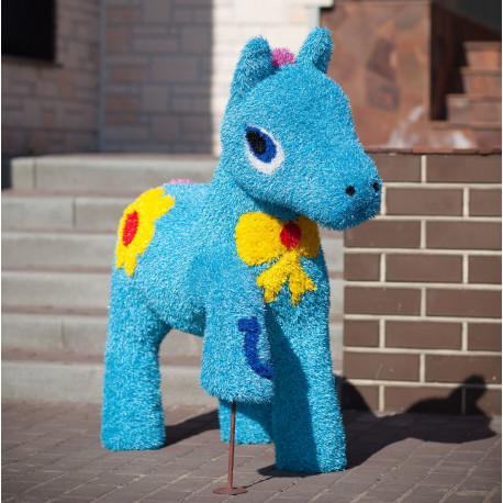 Топиари Пони голубой