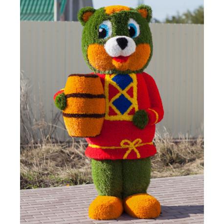 Топиари Медвежонок в красном