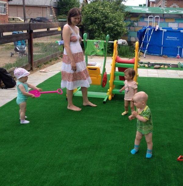 искусственный газон для детской площадки Лайм